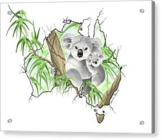 Australia Acrylic Print by Veronica Minozzi