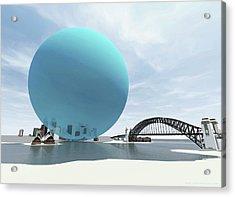 Australia's Daily Co2 Emission Acrylic Print by Adam Nieman