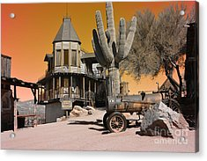 Authentic Ghost Town Acrylic Print by Beverly Guilliams