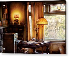 Author -  Style And Class Acrylic Print by Mike Savad