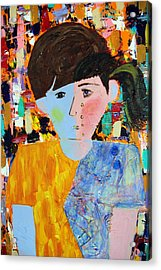 Autism - Child And Mother Acrylic Print by Carmencita Balagtas