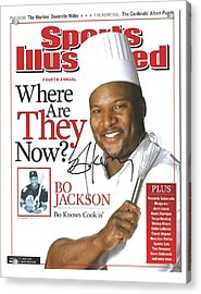 Autographed Sports Illustrated Cover By Bo Jackson Bo Knows Cookin' Acrylic Print by Desiderata Gallery