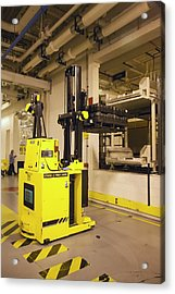 Automated Forklift At A Car Factory Acrylic Print by Jim West