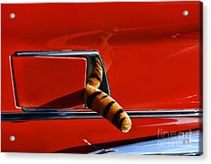 Automotive - Put A Tiger In Your Tank Acrylic Print by Paul Ward