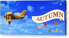 Autumn Advertising Banner Acrylic Print by Amanda Elwell