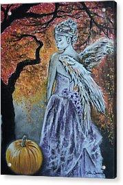 Autumn Angel Acrylic Print by Carla Carson