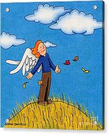 Autumn Angel Acrylic Print by Sarah Batalka