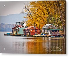 Autumn At Latsch Island Acrylic Print by Kari Yearous