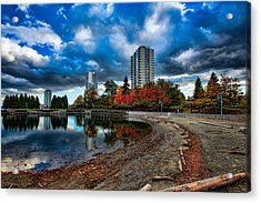 Autumn At The Lagoon Acrylic Print by Mike Thompson