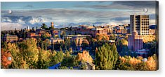 Autumn At Wsu Acrylic Print by David Patterson