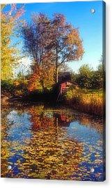 Autumn Barn Acrylic Print by Joann Vitali