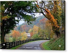 Autumn Beauty Around The Bend Acrylic Print by Carolyn Postelwait