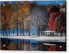 Autumn Blues Acrylic Print by Rob Blair