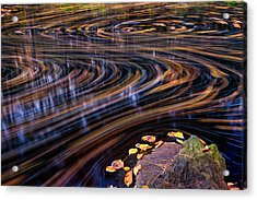 Autumn Chaos Acrylic Print by Jeff Sinon