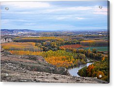 Autumn Colors On The Ebro River Acrylic Print by RicardMN Photography