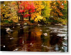 Autumn Colors Reflected Acrylic Print by Jeff Folger