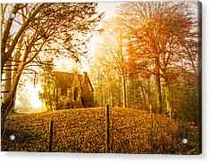 Autumn Cottage Acrylic Print by Debra and Dave Vanderlaan