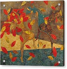Autumn Dance Acrylic Print by Lynda K Boardman