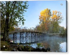 Autumn Dawn At The Historic Old North Acrylic Print by Brian Jannsen
