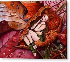 Autumn Fairy Acrylic Print by Maggie Terlecki