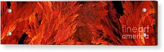 Autumn Fire Abstract Pano 2 Acrylic Print by Andee Design