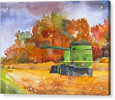 Autumn Harvest Acrylic Print by James Huntley