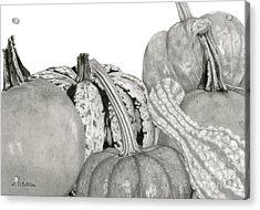 Autumn Harvest On White Acrylic Print by Sarah Batalka