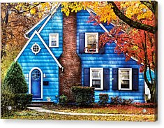 Autumn - House - Little Dream House  Acrylic Print by Mike Savad