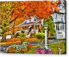 Autumn - House - The Beauty Of Autumn Acrylic Print by Mike Savad