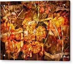 Autumn Impression Abstract Acrylic Print by Lutz Baar