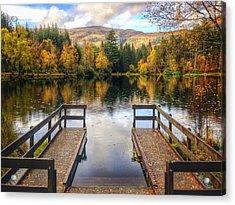 Autumn In Glencoe Lochan Acrylic Print by Dave Bowman