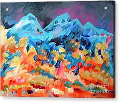 Autumn In Our Mountains Acrylic Print by Viskan