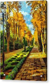 Autumn In Public Gardens Acrylic Print by Jeff Kolker