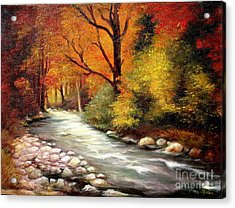 Autumn In The Forest Acrylic Print by Sorin Apostolescu