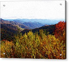 Autumn In The Smokey Mountains Acrylic Print by Phil Perkins