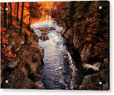 Autumn In West Paris Acrylic Print by Bob Orsillo
