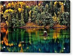 Autumn Jade Acrylic Print by Benjamin Yeager