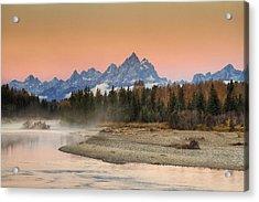 Autumn Mist Acrylic Print by Mark Kiver