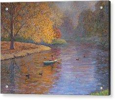 Autumn On Avon Nz. Acrylic Print by Terry Perham