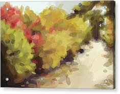 Autumn Path Central Park New York Acrylic Print by Beverly Brown