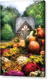 Autumn - Pumpkin - This Years Harvest Was Awesome  Acrylic Print by Mike Savad