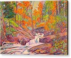 Autumn Rush Acrylic Print by Kendall Kessler