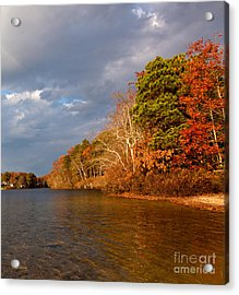 Autumn Storm Approaching Acrylic Print by Michelle Wiarda