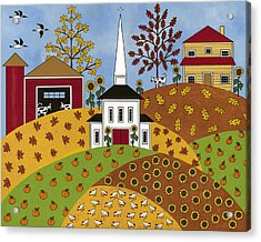 Autumn Tapestry Acrylic Print by Medana Gabbard