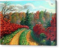 Autumn Trail Acrylic Print by Hanne Lore Koehler