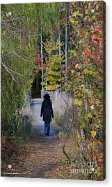 Autumn Walk Acrylic Print by Tannis  Baldwin