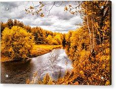 Autumn White Mountains Maine Acrylic Print by Bob Orsillo