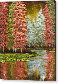 Autumn's Brilliance Acrylic Print by Vic  Mastis