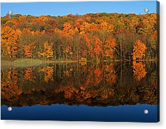 Autumns Colorful Reflection Acrylic Print by Karol Livote