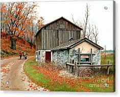 Autumn's Past Time  Acrylic Print by Michael Swanson